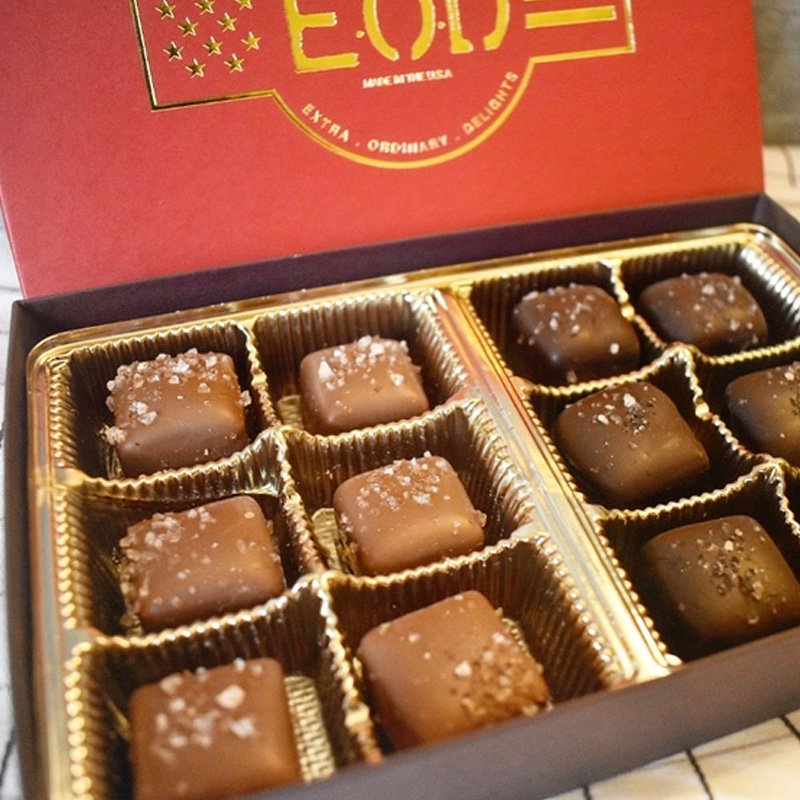 - 12 Piece Chocolate Sea Salt Caramel Box