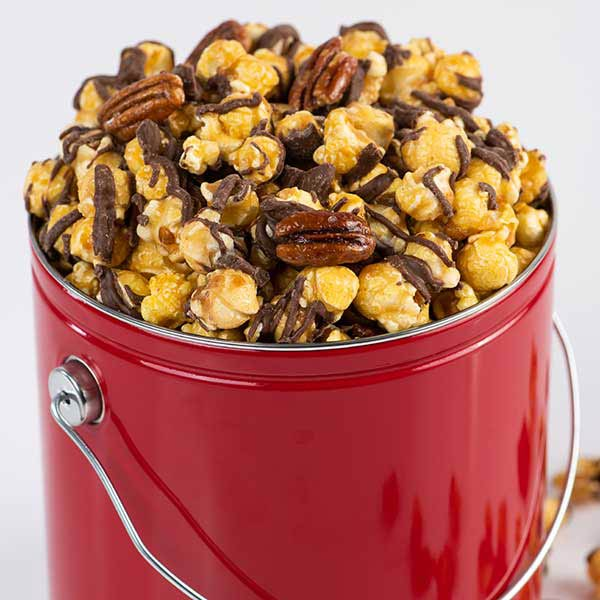 - Chocolate Glazed Pecan Caramel Corn Gift Tin